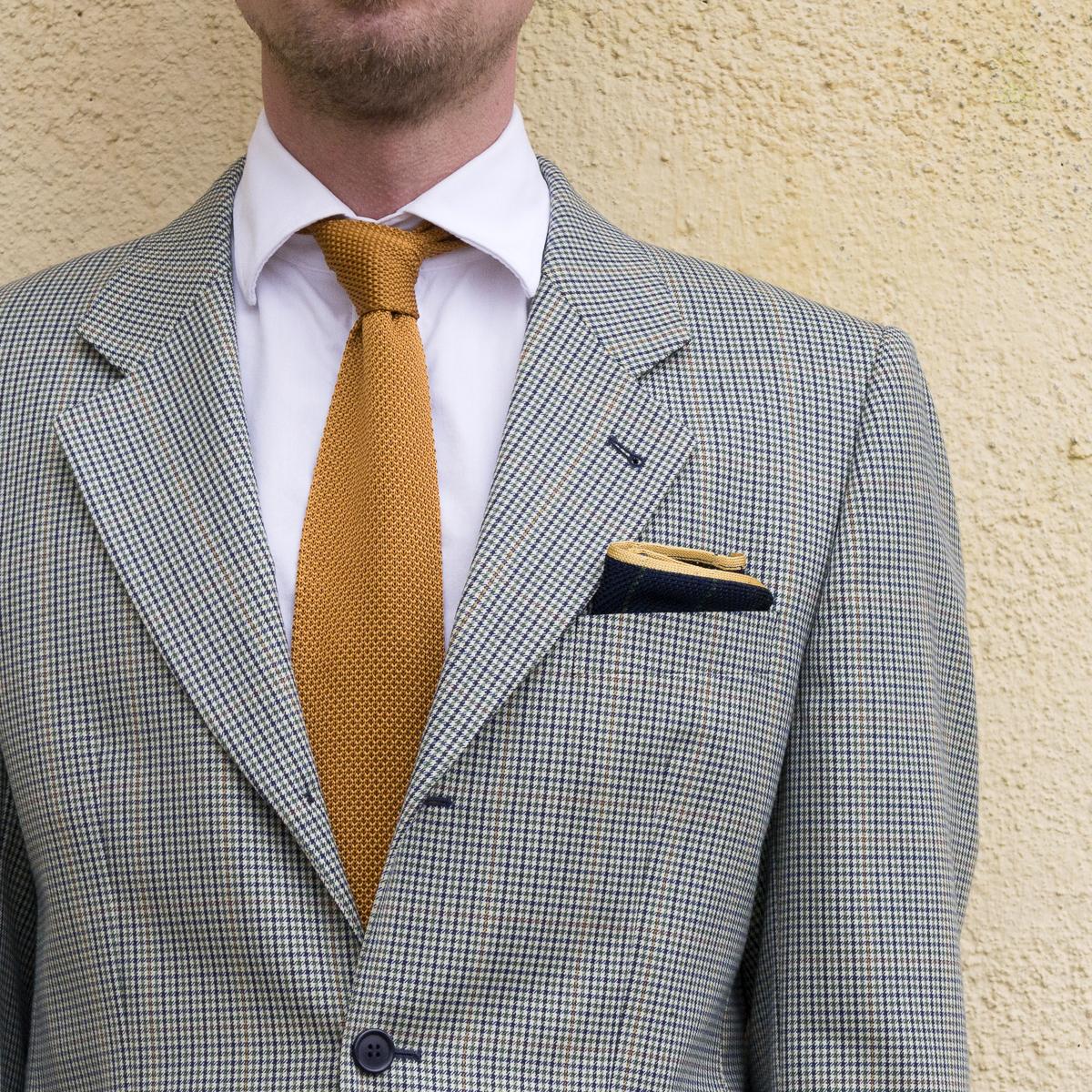 Aurelio classic necktie, Arild pocket square