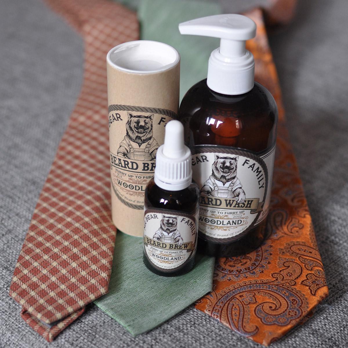 Skäggolja och skäggtvätt från Mr Bear Family